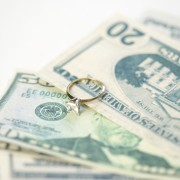 Engagement ring and cash